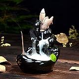 Reverse - Bruciatore di incenso creativo in ceramica alpina che scorre acqua e fumigatore di incenso in ceramica per casa e ufficio
