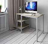 Desk Shelf Unit Computer PC Table Study For Home Office Furniture / Workstation (White Oak)