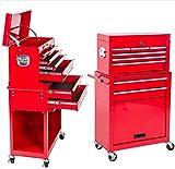 Carrello attrezzi 8 cassetti officina carrellino portautensili cassettiera ruote girevoli armadio...