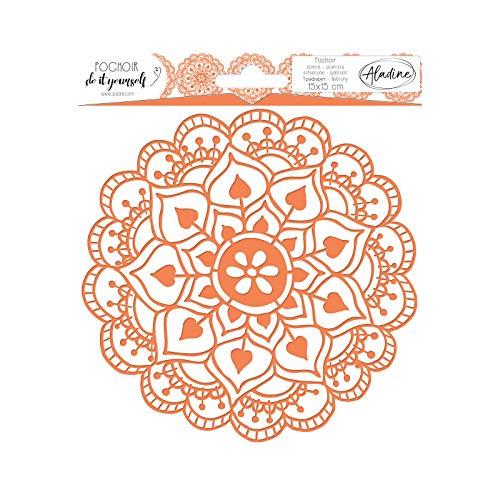 Aladine - Pochoir Carré DIY Arabesque - Scrapbooking, Décoration et Carterie Créative - Lavable -...