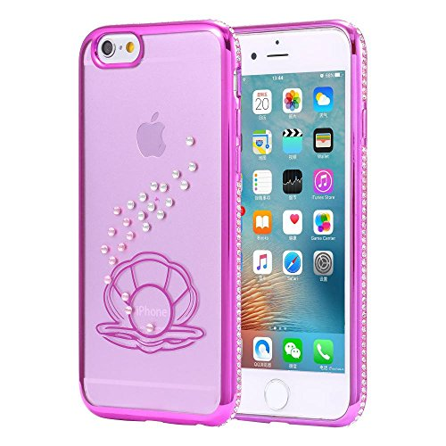 ECENCE APPLE IPHONE 6 6S (4,7) SLIM TPU CASE SCHUTZ HÜLLE HANDY TASCHE COVER TRANSPARENT DURCHSICHTIG CLEAR 12020501 Pink Muschel