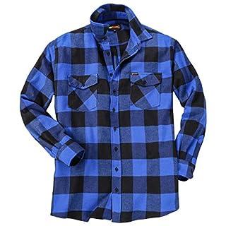 KAMRO Klassisches Holzfällerhemd mit großem Karomuster blau/schwarz_00266 8XL