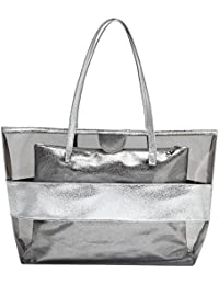 Amazon.co.uk: Silver - Canvas & Beach Tote Bags / Women's Handbags ...