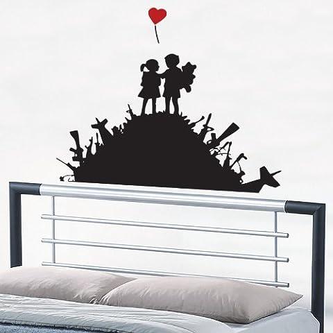 Kids on Arms Pile Banksy-Adesivi per parete, adatti per soggiorno