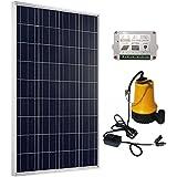 ECO-WORTHY - Bomba de agua solar, panel solar de 100 W, regulador solar de 15 A