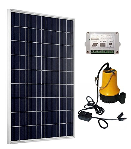 ECO-WORTHY Solar Water Pump Kit W/100W Poly Solar Panel & 15A Solar Controller for Watering (Solar-panel 15)