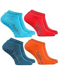 Rainbow Socks Calcetines Cortos ANTIDESLIZANTES Coloridos calcetines BAJOS de algodón, Perfectos para: Suelo Resbaladizo Yoga Trampolines|Para Mujeres y Hombres el Certificado Oeko-Tex, Made in UE