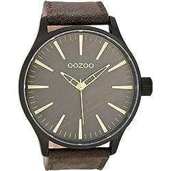 Oozoo Herrenuhr mit Lederband 50 MM Braun/Braun C7423