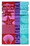 Lashuma Strandtuch Rio | buntes Duschhandtuch | Liegen Handtuch | Strandhandtuch 100% Baumwolle | 75 x 150 cm