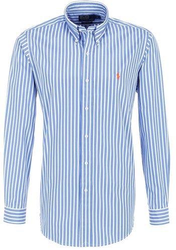 Ralph lauren camicia blu bianco a righe di tempo camicia uomo