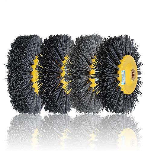 EsportsMJJ 150x40mm M14 Nylon Draht Wheel Pinsel 80/120/180/320 Grit Drum Polieren Rad - 120#