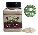 Negro del Himalaya Rock Salt (sal negra) - gran criba doble Molienda extra fino, (16 onzas) - Extra Fine Grind, (16 onzas) de doble tamiz Jar-Large Negro sal de roca del Himalaya (sal negra)