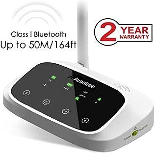 Avantree Oasis 50m HOHE REICHWEITE Bluetooth Transmitter, Audio Sender und Empfänger Adapter für Kopfhörer & Lautsprecher, aptX Low Latency, Digital Optical Toslink, RCA, AUX Klinke, Dual Link