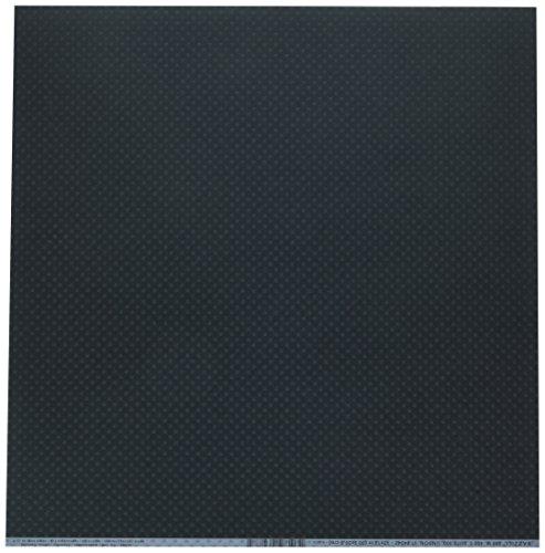 Bazzill Basics 25 Blatt Papier für Scrapbooking, red_p Bazzill Leinwand-Textur schwarz -