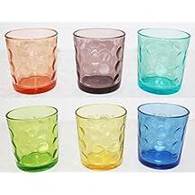 Borella Casalighi Jenny - Juego de 6 vasos de agua, colores surtidos