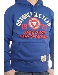 "Franklin & Marshall Herren Hoodie ""Felpa Speedway"" Sweater blau, men Kapuzenpullover Jacke"