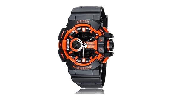 fecd1bdaac6 Buy OHSEN Fashion Mens Army Sports Watches OHSEN Brand Digital Watch Men  Man LED Date Day Alarm Waterproof Wristwatch Relogios Masculinos - Orange  Online at ...