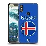 Head Case Designs Isländische Fahne Fahnen Flicken Ruckseite Hülle für Motorola One Power (P30 Note)
