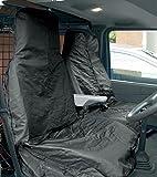 "Streetwize SWSC13 Black Water Resistant Van [Single Seat + Twin Cab Seat]""Nylon"" Seat Protectors"
