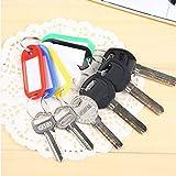 Huayang 20 Stück Kunststoff Schlüsselanhänger Schlüsselanhänger Umbauten des Gepäcks Identifikation