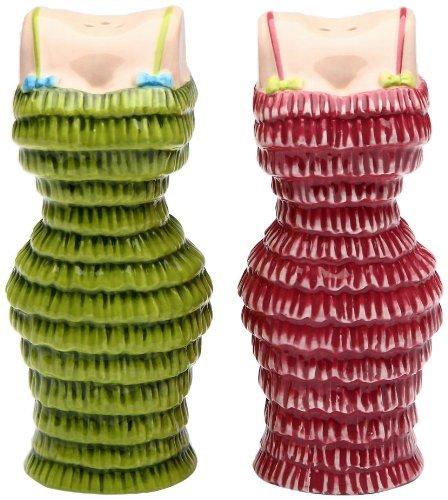 Appletree Design Pink und Grün Cuties Kleid Salz und Pfeffer Set, 3-1/2Zoll