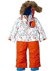 Quiksilver Skianzug Rookie Suit - Traje de esquí para niño, color (Stickerfreezed White), talla 6-7