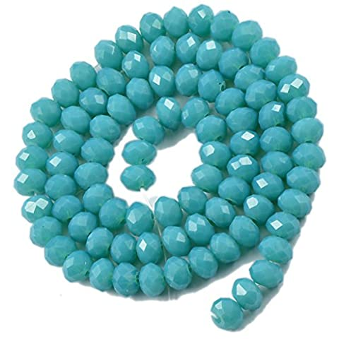 16.5'' Faceted Crystal Glass Gemstone Beads Strand Jewelry Making Craft 4mmx6mm #5