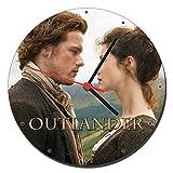 MasTazas Outlander Sam Heughan Caitriona Balfe Wanduhren Wall Clock 20cm