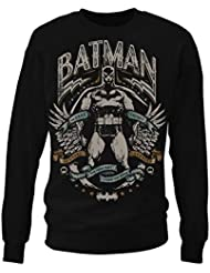 Batman Dark Knight Crusader hommes Sweat-shirt (Noir)