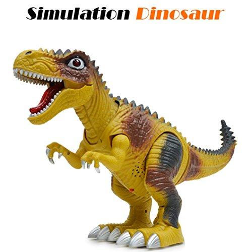 LCLrute Kinder Spielzeug Walking Dinosaurier Spielzeug Figur mit Lichtern & Sounds, Real Bewegung (A)