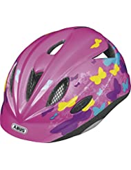 ABUS, Casco ciclismo Bambino Rookie, Rosa (Butterfly Pink), 52-57 cm