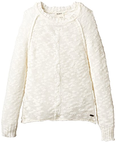 Roxy Salty Sea - Maglione girocollo, donna Bianco bianco (Sea spray) S