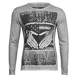 Langarm Shirt - L.A Round - von Key Largo - Modell MLS0001 Herbst Winter mit Los Angeles Motiv für Herren
