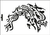 UMR-Design W-602 Viking Tribal Wand / Textilschablone Grösse A4