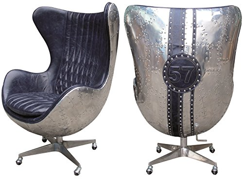 my flair danish egg sessel leder aluminium chateau blue. Black Bedroom Furniture Sets. Home Design Ideas