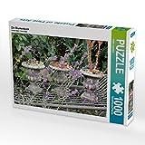 Die Blumenbank 1000 Teile Puzzle quer (CALVENDO Natur)