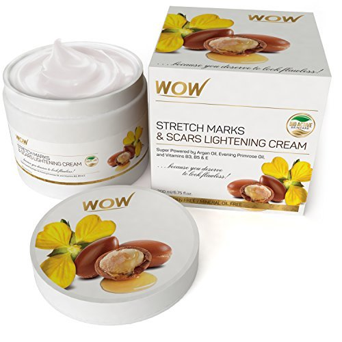 WOW Stretch Marks and Scar Lightening No Parabens & Mineral Oil Cream, 200mL