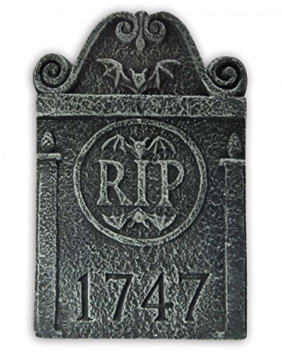 Horror-Shop Mini Friedhof Grabstein Monument R.I.P. 1747 als Halloween Dekoration (Halloween-dekoration Shop)