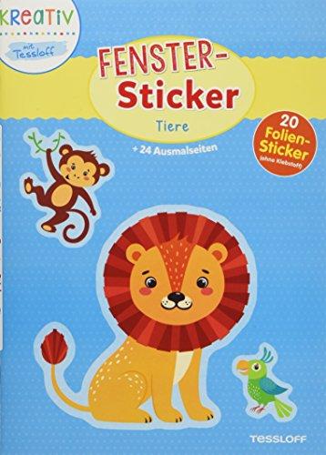 Fenster-Sticker Tiere: 24 Ausmalseiten, 20 Folien-Sticker