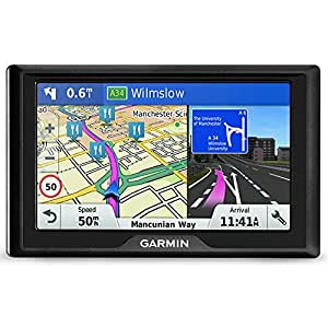 Garmin Drive 5 Inch Sat Nav with Lifetime Map Updates for UK and Ireland and Free Live Traffic - Black