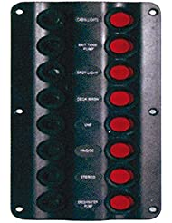 Osculati 14.104.03 - Pannello elettrico Wave 8 interruttori (Wave electric control panel 8 switches)