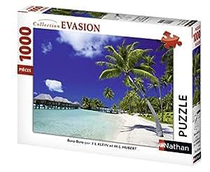 Nathan - 87464 - Puzzle - Plage Paradisiaque - 1000 pièces