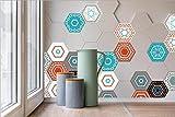 JY ART Y Wand-Aufkleber Küche Deko Badezimmer-Gestaltung - Küchen-Fliesen überkleben - Dekorative Bad-Gestaltung - Fliesen-Aufkleber - - LB005, Sets of 10 Pieces