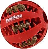 Hundespielzeug Ball aus Naturkautschuk mit Dental-Zahnpflege-Funktion | mit Noppen und Loch für Leckerli, ø 7cm, für große und kleine Hunde - 3