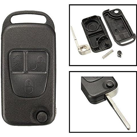 Yongse Reemplazo de 3 botones caso de Shell remoto FOB de la llave para Mercedes Benz ML C CL Clase S