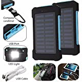Generic 8000Mah Solar Power Bank Dual Usb Battery Charger Set For Mobile Phone