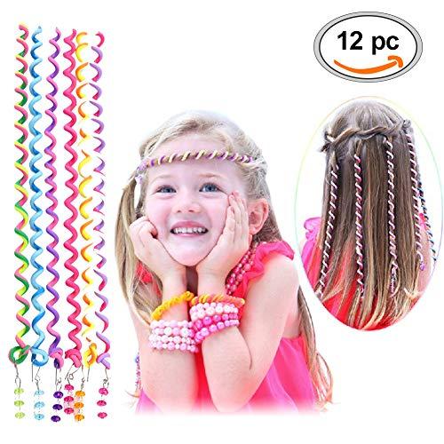 (Haar Torsion,Torsion Haarschmuck,Mädchen Haar Styling Twister,Frauen Mädchen 12 Stück Bunte Haar Torsion Haarschmuck mit Strass Haar Accessoires Mehrfarben)