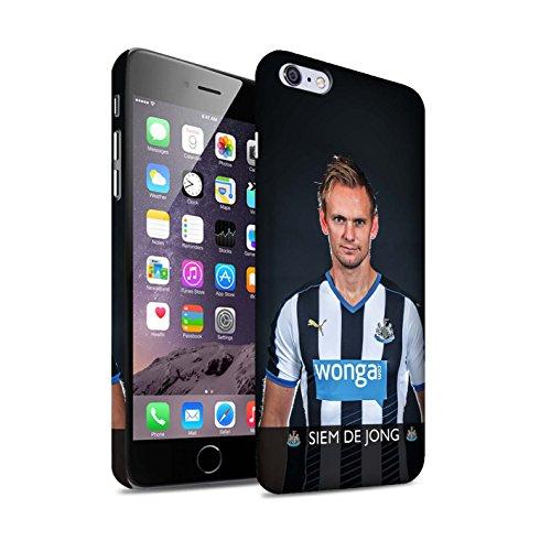 Officiel Newcastle United FC Coque / Clipser Matte Etui pour Apple iPhone 6S+/Plus / Janmaat Design / NUFC Joueur Football 15/16 Collection De Jong