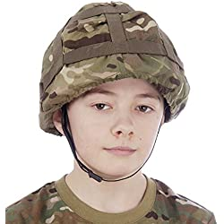Niños Todoterreno camuflaje Casco - Totalmente ajustable juguete Casco Ejército
