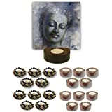TYYC Diwali Gifts Smiling Lord Buddha Tealight Holder Diwali Decoration Candle Lights For Puja, Home, Office Set Of 101